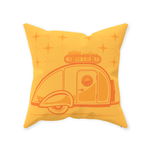 Throw Pillow — Teardrop 2-tone