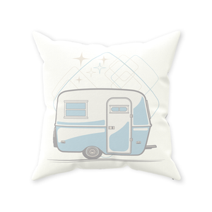 Throw Pillow — Egg-On-Wheels, light/dark