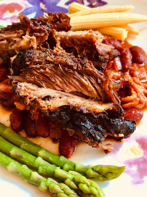 Primal Grazing Brisket and Beans