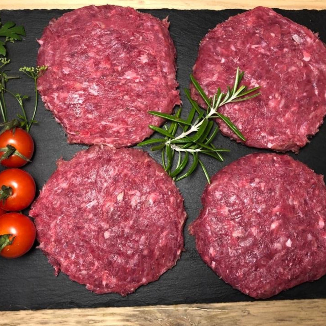 Beef Burgers (Packet of 4) - Primal Grazing - Pasture Raised - GMO Free