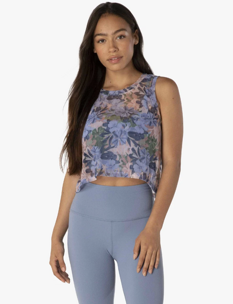 Beyond Yoga Botanical Mesh Tank