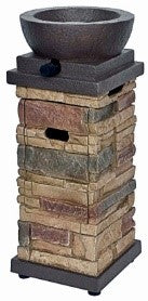 "22"" Stacked Stone Fire Column"