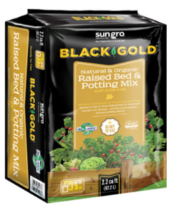 Black Gold Organic Raised Bed Potting Mix  1.5 cu ft