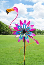 Load image into Gallery viewer, Flamingo Wind Spinner