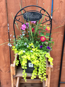"12"" Welcome Planter"
