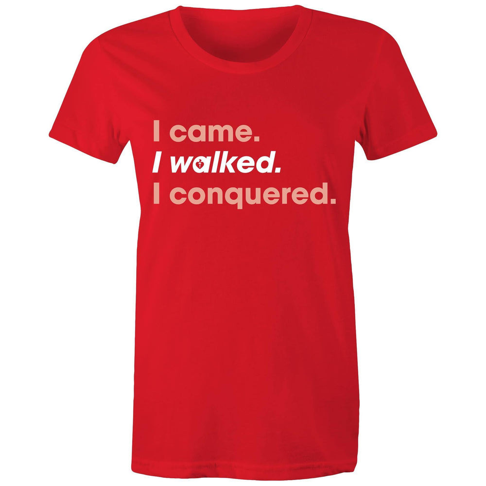 Heart Foundation I walked. I conquered. Women's T-shirt Red