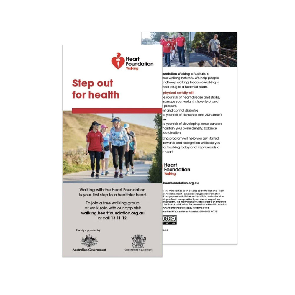 Step Out for Health Walking Program - Flyer