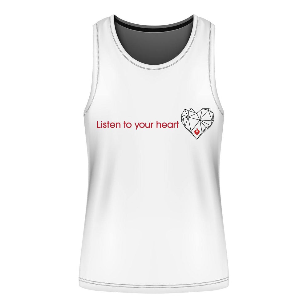 Listen To Your Heart Mens Muscle Tank Tee