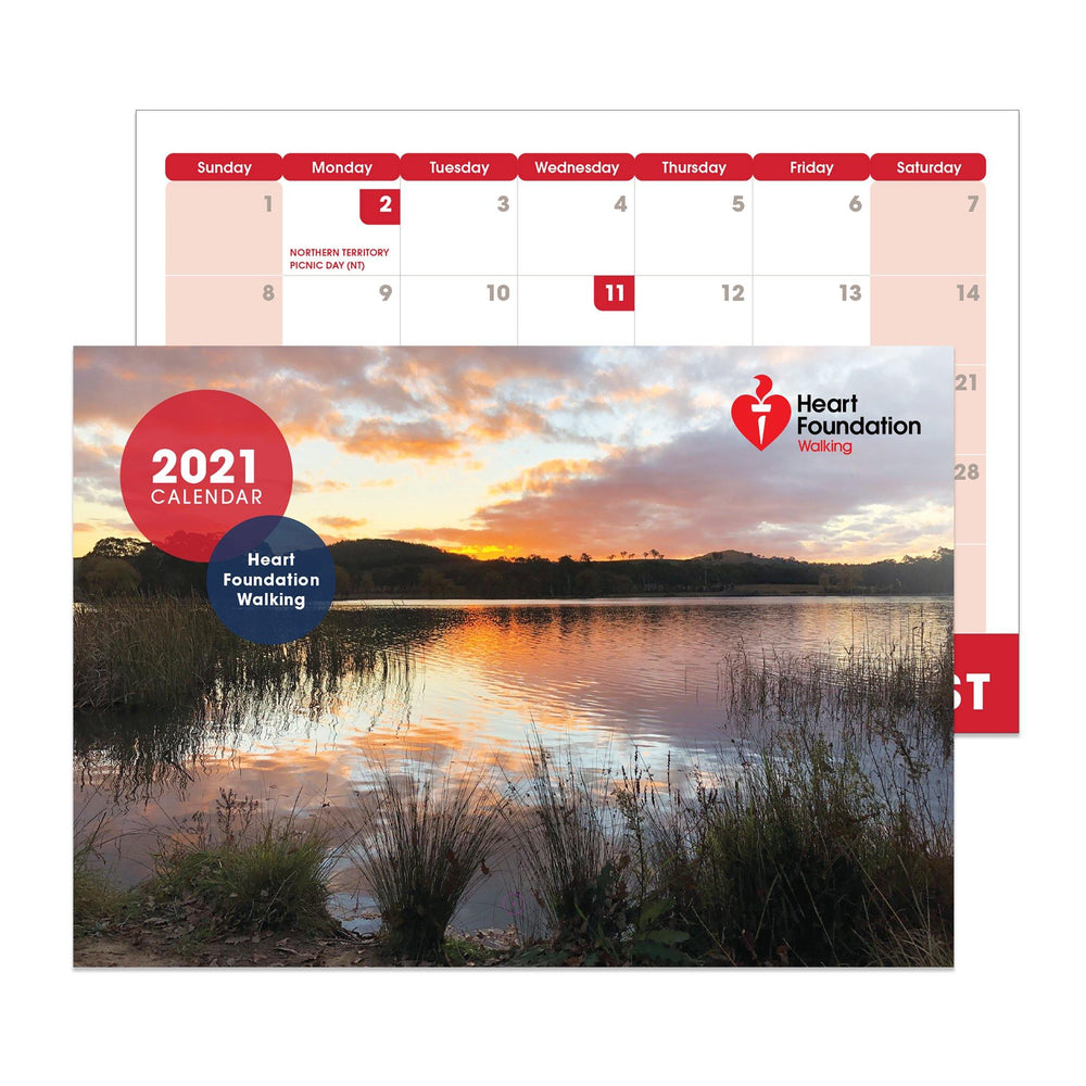 2021 Calendar Heart Foundation Walking