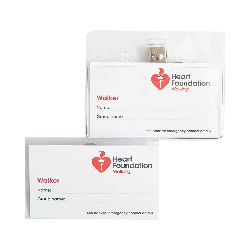 Heart Foundation Walker Name Tag Front