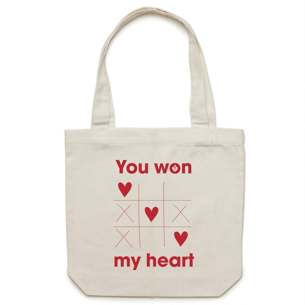 You Won My Heart Carrie Canvas Tote Bag