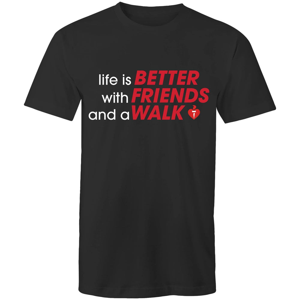 Friends Walk Mens T-Shirt