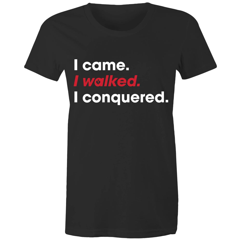 Heart Foundation I walked. I conquered. Women's T-shirt Black