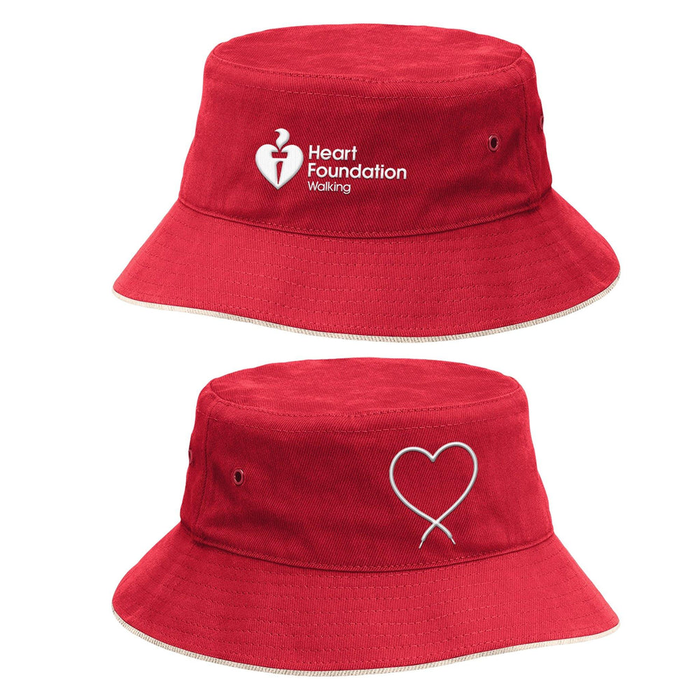Heart Foundation Unisex Reversible Bucket Hat Red side