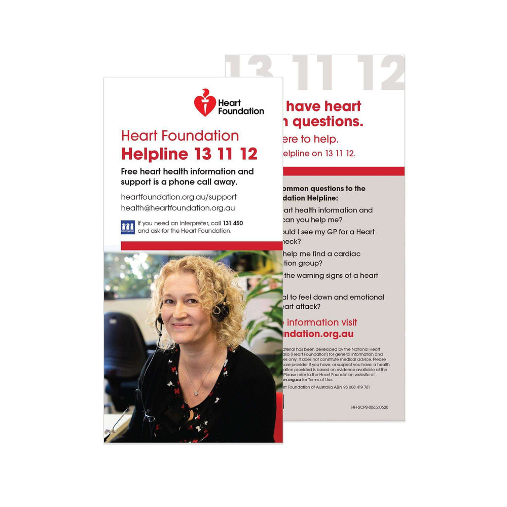 Helpline Information - Card