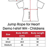 Jump Rope for Heart Childrens White T-shirt