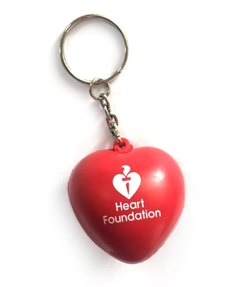 Anti-stress Red Heart Keyring