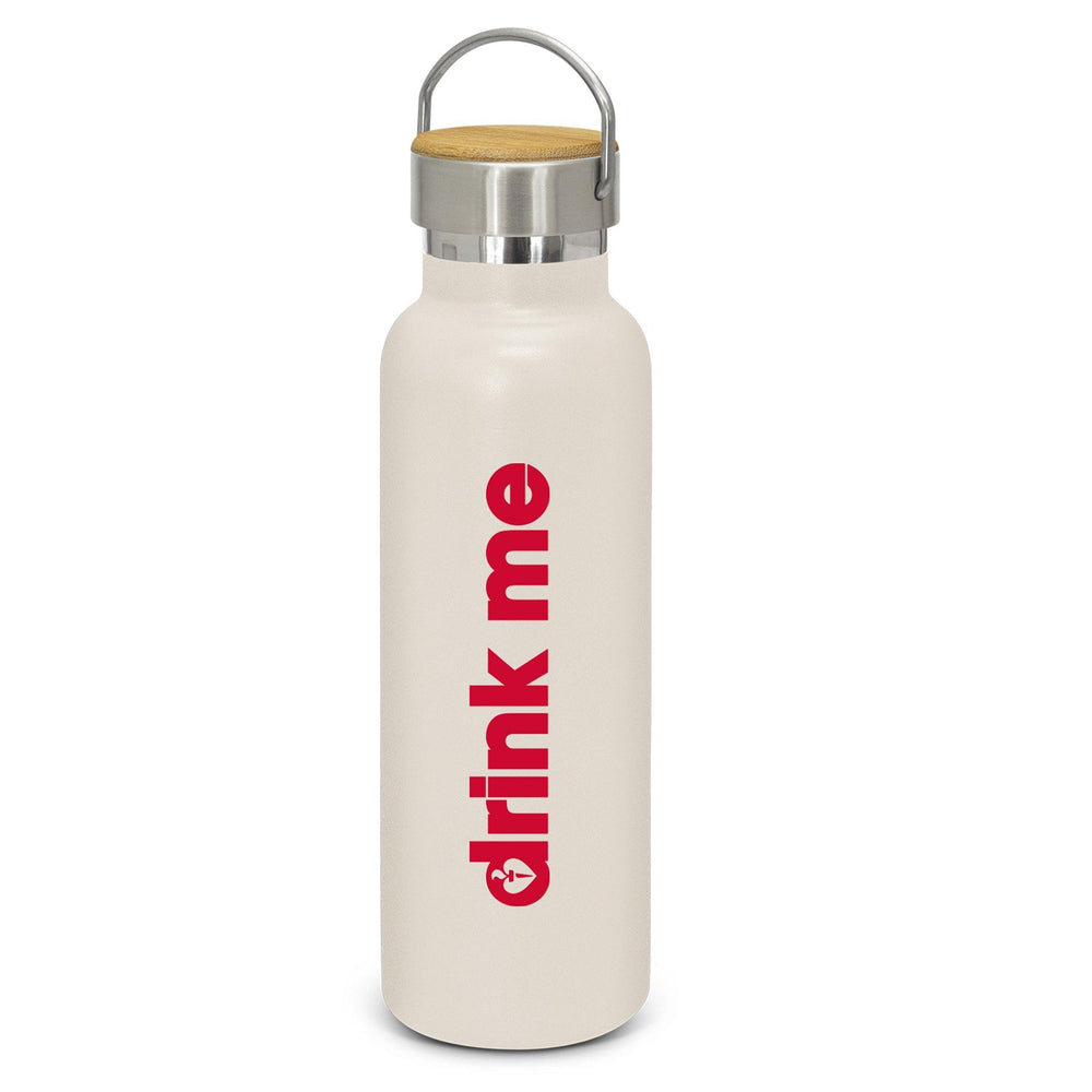 Heart Foundation Nomad Double Wall Insulated Drink Bottle White Front