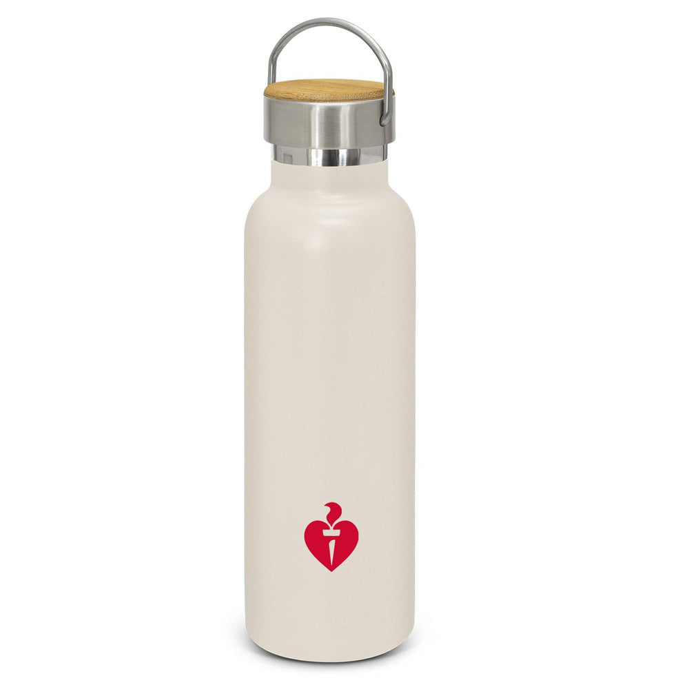 Heart Foundation Nomad Double Wall Insulated Drink Bottle White Back