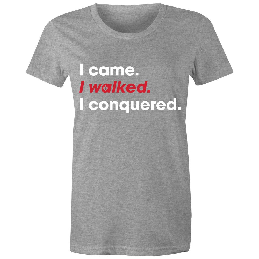 Heart Foundation I walked. I conquered. Women's T-shirt Grey