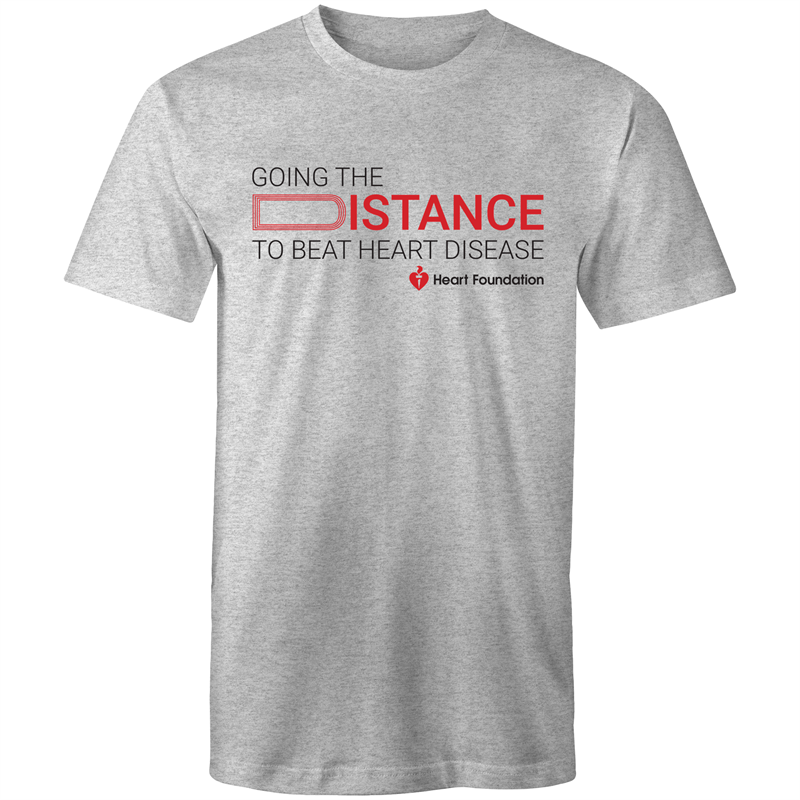 Heart Foundation Going The Distance Mens T-Shirt Grey