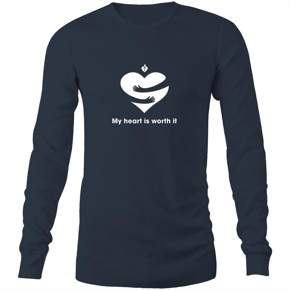 My heart is worth it - Mens Long Sleeve T-Shirt