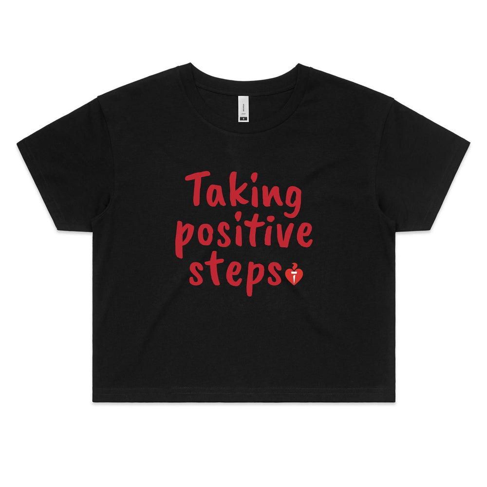 Taking Positive Steps Women's Crop Tee
