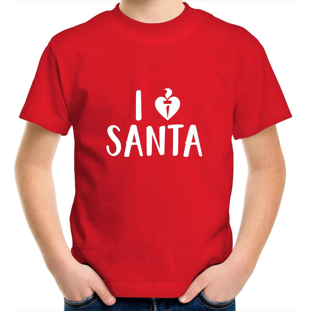 I Love Santa - Kids Youth T-Shirt