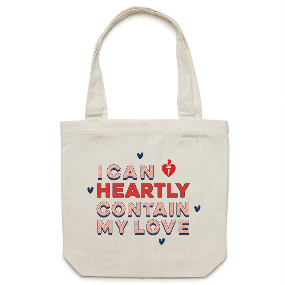 I Can Heartly Contain My Love - Carrie Canvas Tote Bag Cream