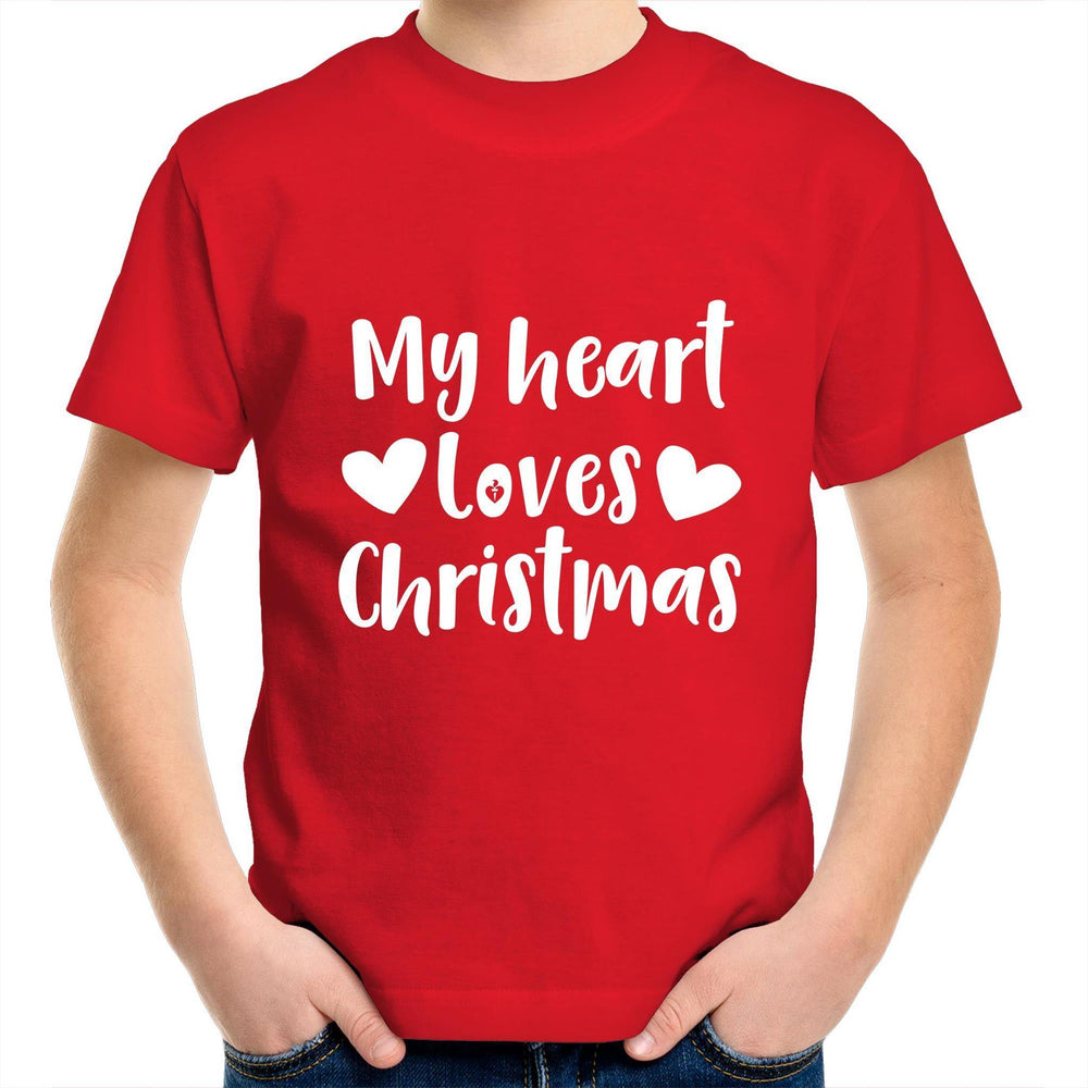 My Heart Loves Christmas - Kids Youth T-Shirt