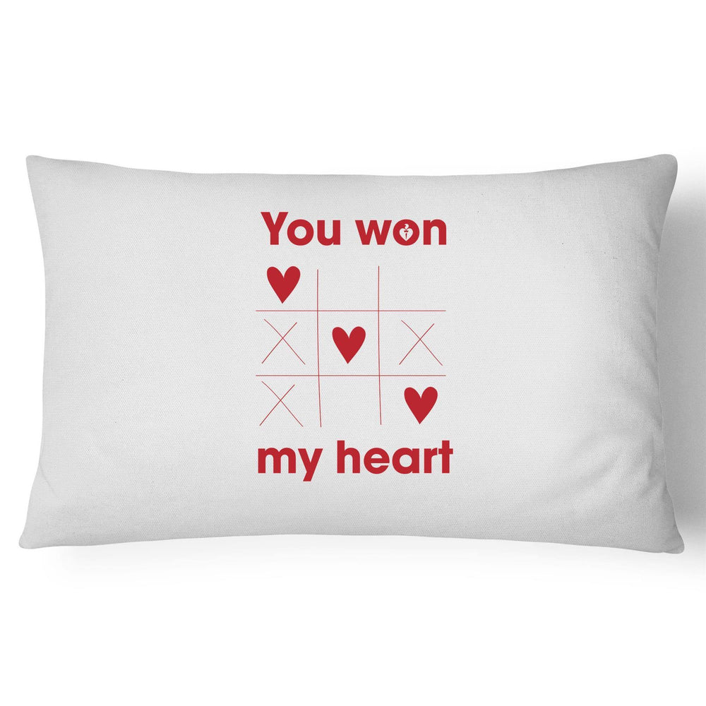 Heart Foundation You Won My Heart Pillow Case White