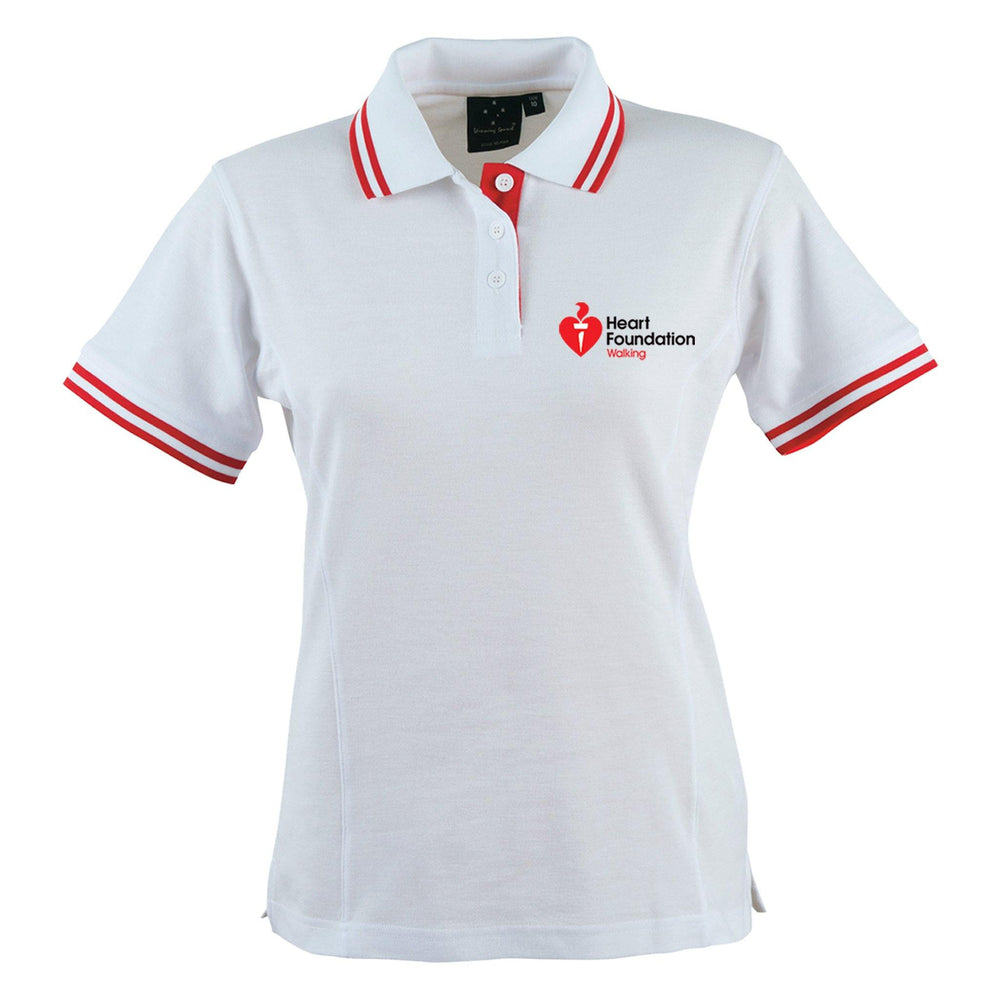 Pique Short Sleeve Polo Shirt Women's White