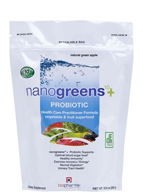 nanogreens+ probiotic: green apple
