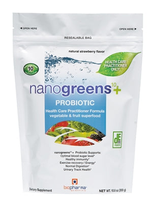 nanogreens + probiotic: strawberry