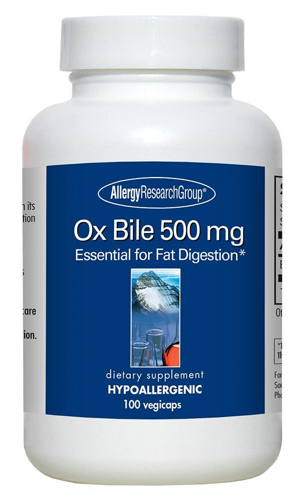 Ox Bile 500 mg 100 Vegicaps