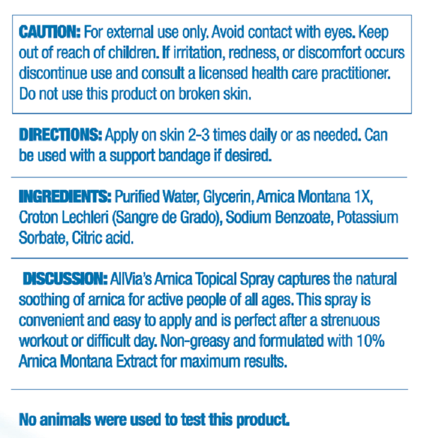 Arnica Topical Spray
