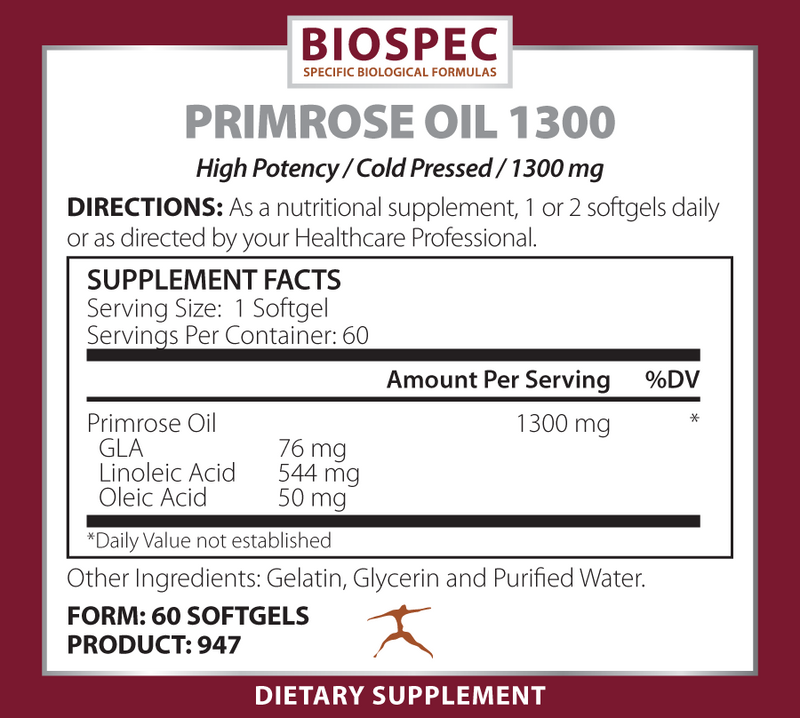 PRIMROSE OIL 1300 (60 Softgels)