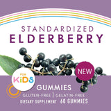 Nature's Way Sambucus Elderberry Kid's Gummies Herbal Supplements, 60 Count | Black Elderberry |Vitamin C | Zinc |