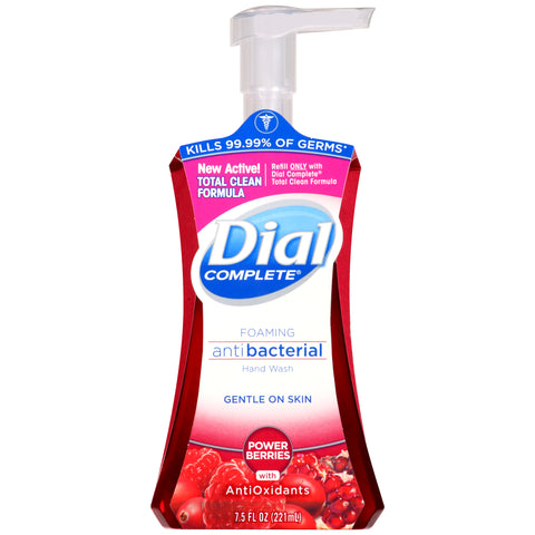 Dial Complete Antibacterial Foaming Hand Wash, Power Berries, 7.5 Ounce