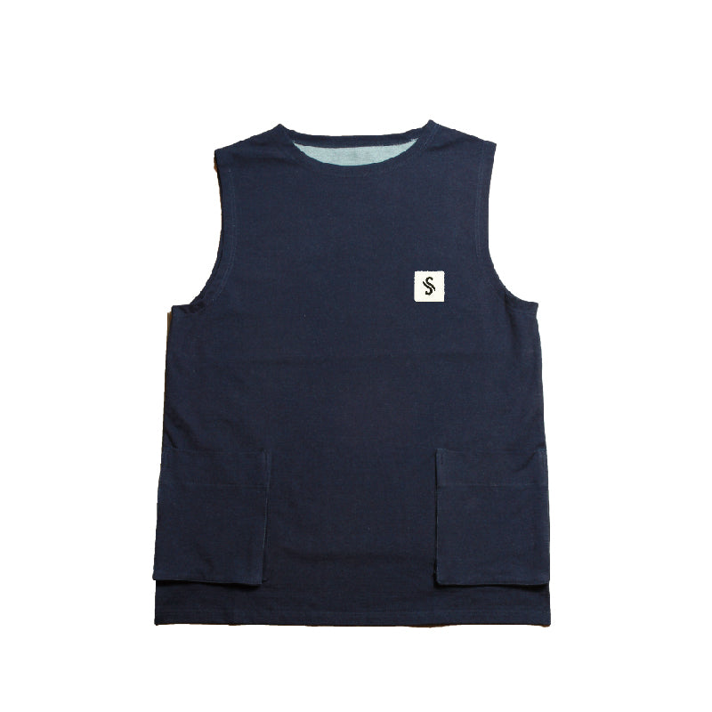 Cut Denim Vest