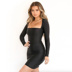 LadyZoye®sexy Women Bandage Long Sleeve Evening Sexy Party pencil Dress