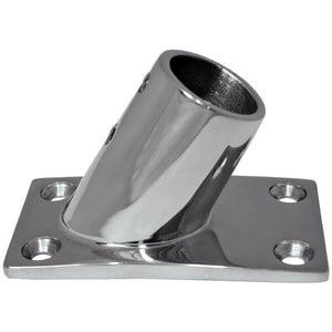 "Whitecap 1"" O.D. 60 Degree Rectangle Base SS Rail Fitting [6142C]"