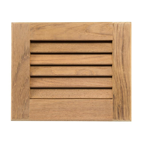 Whitecap Teak Louvered Insert - 7-1/2