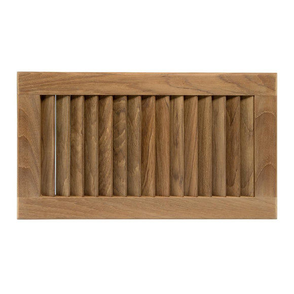 Whitecap Teak Louvered Insert - 16