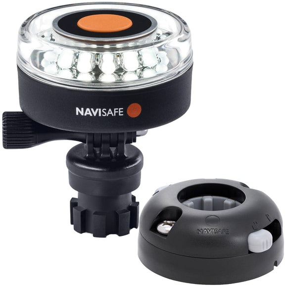Navisafe Navilight 360 2NM White w/Navimount Base  Horizontal Mount - Black [040KIT7]