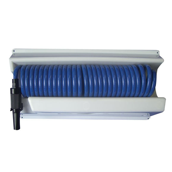 Whitecap 25 Blue Coiled Hose w/Mounting Case [P-0443]
