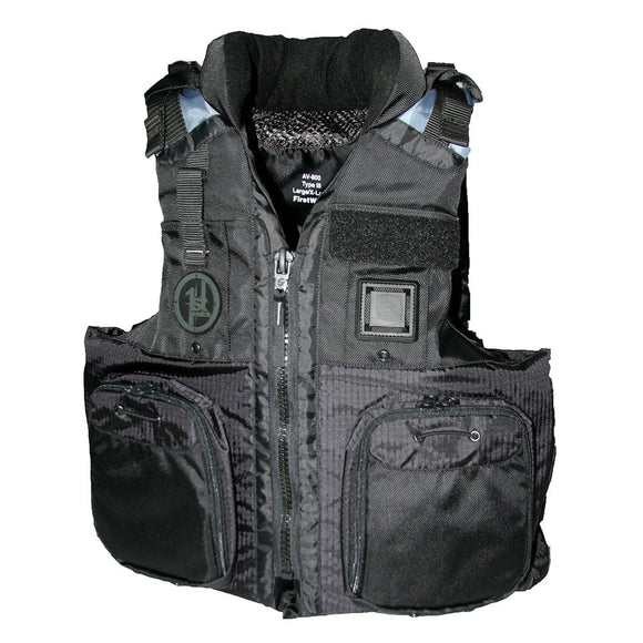 First Watch AV-800 Pro 4-Pocket Vest (USCG Type III) - Black - 2XL/3XL [AV-800-BK-2XL/3XL]