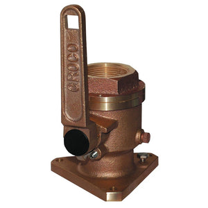 "GROCO 1-1/2"" Bronze Flanged Full Flow Seacock [BV-1500]"