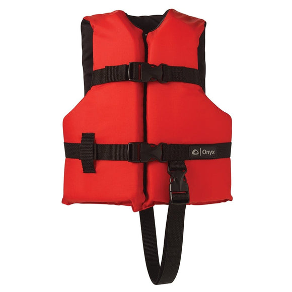 Onyx Nylon General Purpose Life Jacket - Child 30-50lbs - Red [103000-100-001-12]