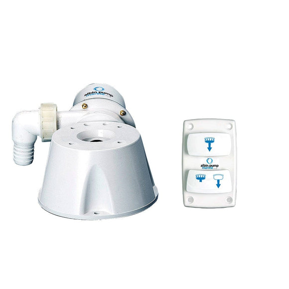 Albin Pump Marine Silent Electric Toilet Kit - 12V [07-66-021]